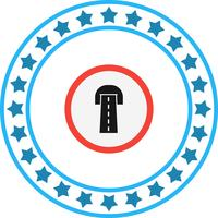Vector wegtunnel pictogram