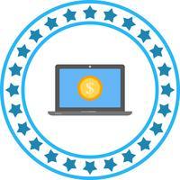 Vector Laptop Money Icon