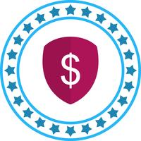 Vector Shield Dollar pictogram