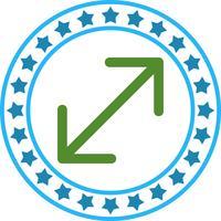Vektor dubbel pil ikon