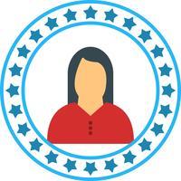 Icona della donna vettoriale