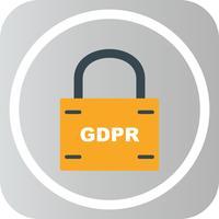 Vector GDPR icono de bloqueo de seguridad