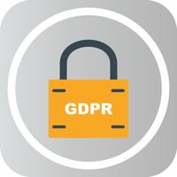 Vector GDPR beveiligingsslot pictogram