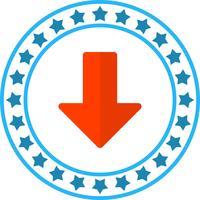 Vector pijl-omlaag pictogram
