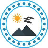 Vector soleado icono de Mounatin