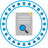 Ícone de pesquisa de documento vetorial