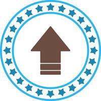 Icono de flecha hacia arriba de vector