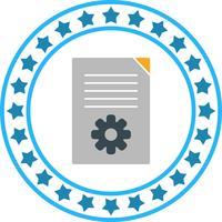 Vektor Dokument Inställning Ikon