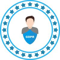 Vector GDPR Security mannen avatar pictogram