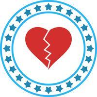 Vector icono de ruptura del corazón