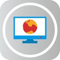 Vector Globe Internet Web en línea icono de Monitor
