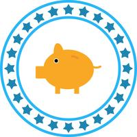 Icono de Vector Piggy Bank