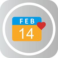Vector Valentine Day Icon