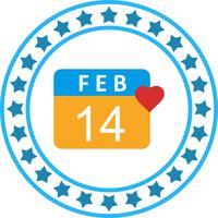 Icône de jour de valentine de vecteur
