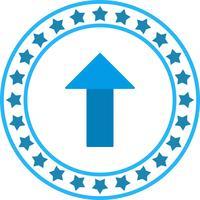Icono de flecha arriba de vector
