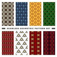 Conjunto de padrão de formas geométricas decorativas sem emenda