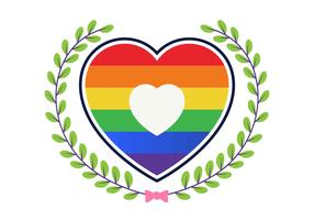 Amour avec Rainbow Vector Illustration