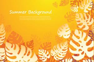 tropical leafs summer background