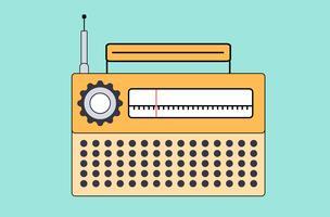 Um velho rádio