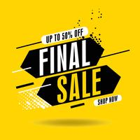 Dynamic Final sale banner, up to 50  off. Vector illustration. Modern flash sale banners. Sale banner template design.