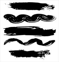 Brush strokes hand drawn vector illustration - Vector
