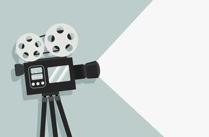 retro cinema film camera vector background