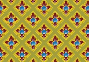 Patrón de arte de estilo tradicional tailandés