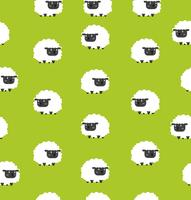 Cute black little sheeps pattern seamless