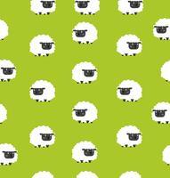 Cute black little sheeps pattern seamless