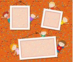 Children on cute photo frame