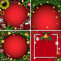Quatre fond avec le thème de Noël