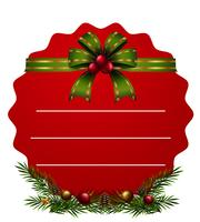 Rote Karte und grüner Riboon für Weihnachten