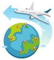 Kommersiella flygplan över hela världen