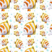 Naadloos ontwerp als achtergrond met vissen en bellen