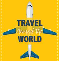 Travel around the world template