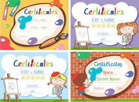 A set of art certificate