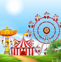 Crianças, tendo divertimento, em, a, carnaval