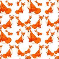 Naadloos van rode vos
