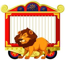 Lion and carnival cage
