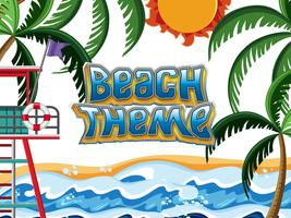 Beach Theme element scen