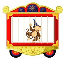 Monkey in circus cage