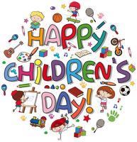 Happy children day logo