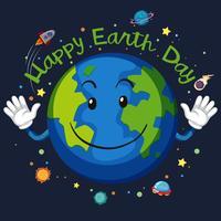 Glückliches Tag der Erde-Raumkonzept