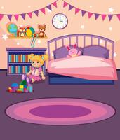 A girl bedroom template