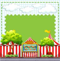 Border design with game at circus