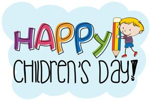 A children's day logo