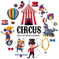 Colourful Circus Element on White Background