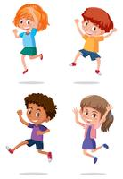 A set of happy kids vector