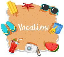 Bannière de vacances à la plage sur élément
