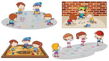Jogo, de, crianças jogando